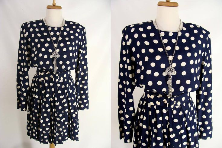 $40.00 Boho Festival Dress. Blue and White Polka Dot Dress. Short Rayon Dress. vintage 90s Grunge Dress. The Limited Dress. size M Medium 7 8 by wardrobetheglobe on Etsy