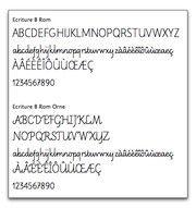 Polices de caractères pour l'enseignement de l'écriture