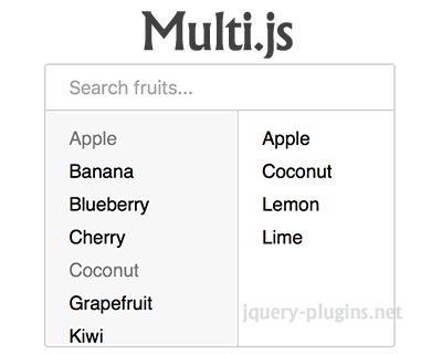 Multi.js – Replacement for Select Boxes with Multiple Attribute #select #list #multipleselect #jQuery #multiselect #selectList #selectbox