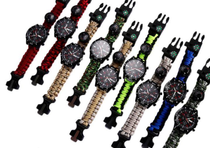Суровые походные часы: с компасом, со свистком, термометром, кремнем для разжигания огня и браслетом, который разматывается в трехметровый прочный шнур! 😎  https://cash4brands.ru/140617visual-2/