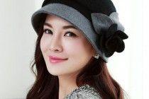 cappello della benna del fiore eleganza per le donne di lana calda Cappelli invernali