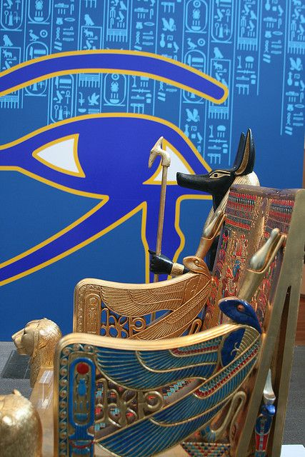 TOMP OF TUT ANKH AMUN.  NOTE THE EYE HORUS IN THE BACKGROUND