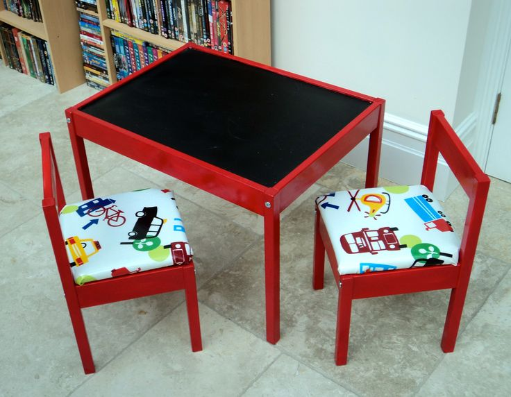 ikea hackery latt table and chairs table and chairs chalkboard table and orange chairs. Black Bedroom Furniture Sets. Home Design Ideas