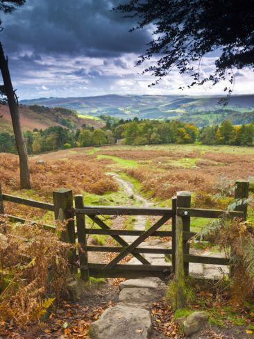 UK, England, Derbyshire, Peak District National Park, from Stanage Edge  by Alan Copson
