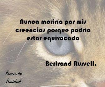 Frases filosoficas de Bertrand Russell.