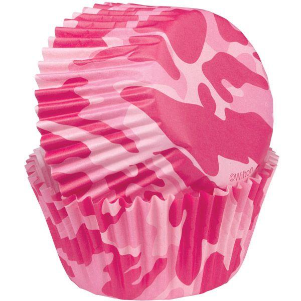 Pink camo cupcake liners