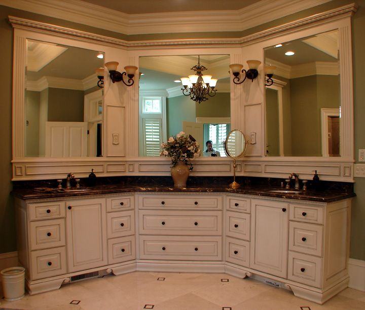 1000 ideas about corner bathroom vanity on pinterest - Small bathroom vanity mirror ideas ...