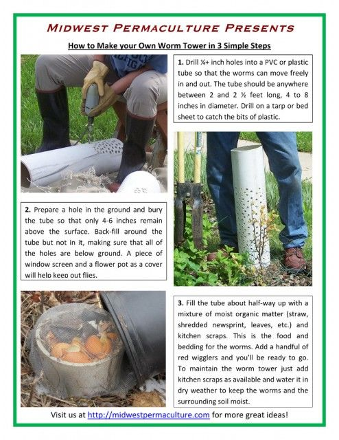 Midwest Permaculture Presents - How to Make Your Own Worm Tower in 3 Simple Steps