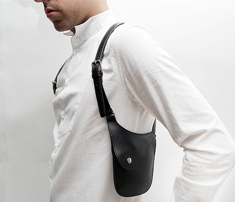 YMYL UNISEX HOLSTER BAG ALTERBK  Menswear Superhero  Leather holster Phone holster Leather vest