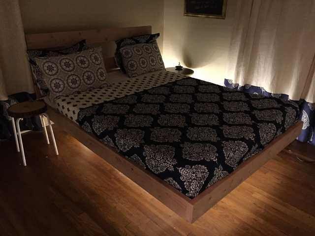 Floating Bed Floating Bed Frame Floating Bed Diy