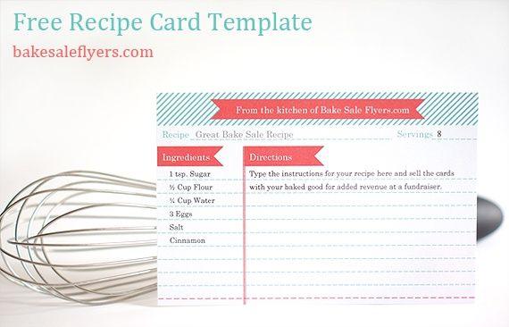 Recipe Card Download At HttpWordtemplatesbundleComBlank