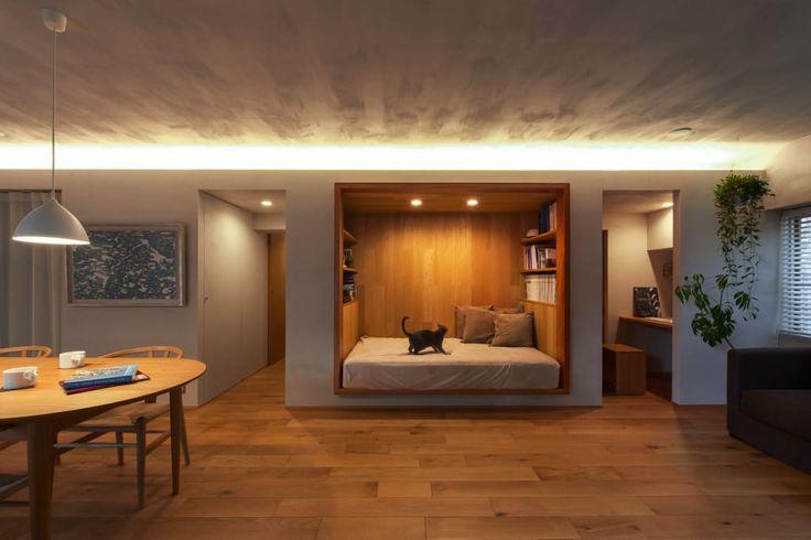 寝室のデザイン:覚王山のリノベーションをご紹介。こちらでお気に入りの寝室デザインを見つけて、自分だけの素敵な家を完成させましょう。
