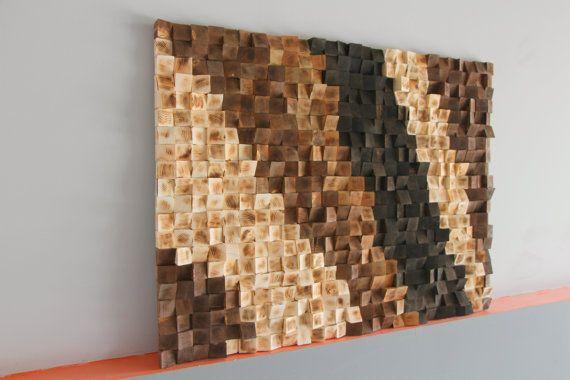 Parete in legno rustica Art recuperato a legna legno di GBandWood