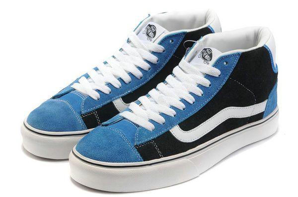 Vans Old Skool Mid Top Blue Black With