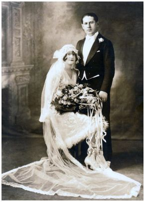 My grand parents have this same pose as their wedding picture when they got married in 1923.