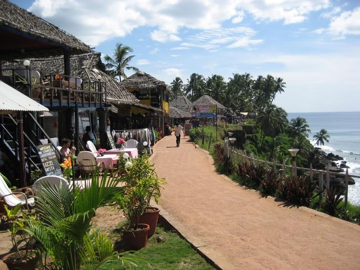 Varkala Cliffs. Kerala India