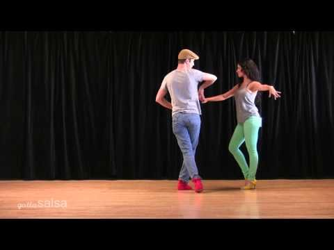 Turn and Bump Salsa Pattern with David Stein and Jennifer Stein - YouTube