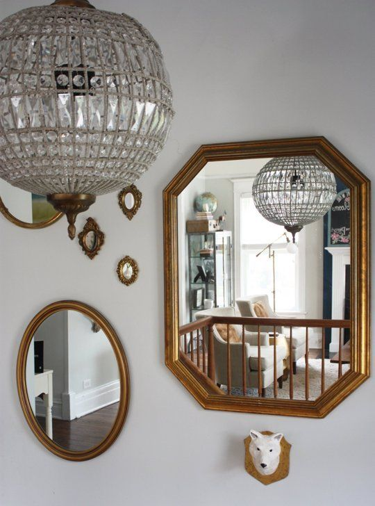 18 best images about globe lights on pinterest glass for Different sized mirrors