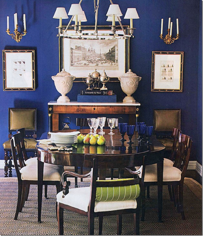 Blue dining room. This blue. - 95 Best Dining Room Ideas Images On Pinterest Dining Room, Dining
