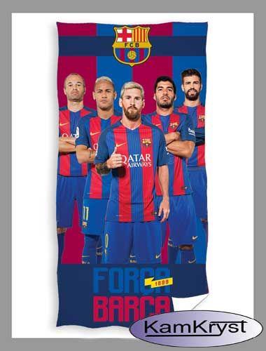 Nowy ręcznik z piłkarzami FC Barcelony z kolekcji firmy Carbotex - już dostępny w sprzedaży.