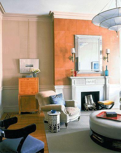 Colorful modern living room + leather wall tiles  www.falpanelek.hu  www.szonyeg-bolt.hu