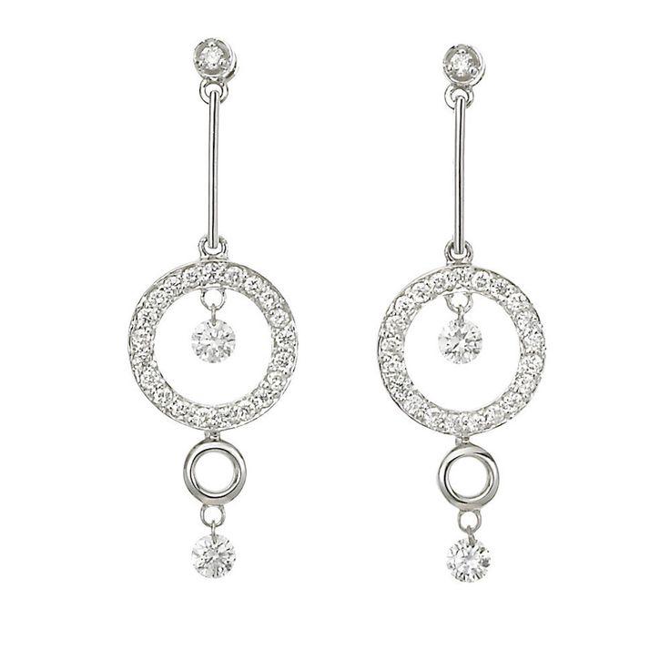 Dancing Diamond Drop Earrings