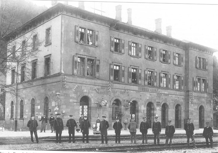 train station of Oberndorf am Neckar, Germany in 1895