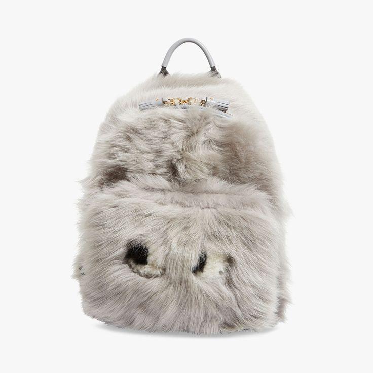 Sac à dos Mini Eyes laine de mouton - ANYA HINDMARCH - Find this product on Bon Marché website - Le Bon Marché Rive Gauche