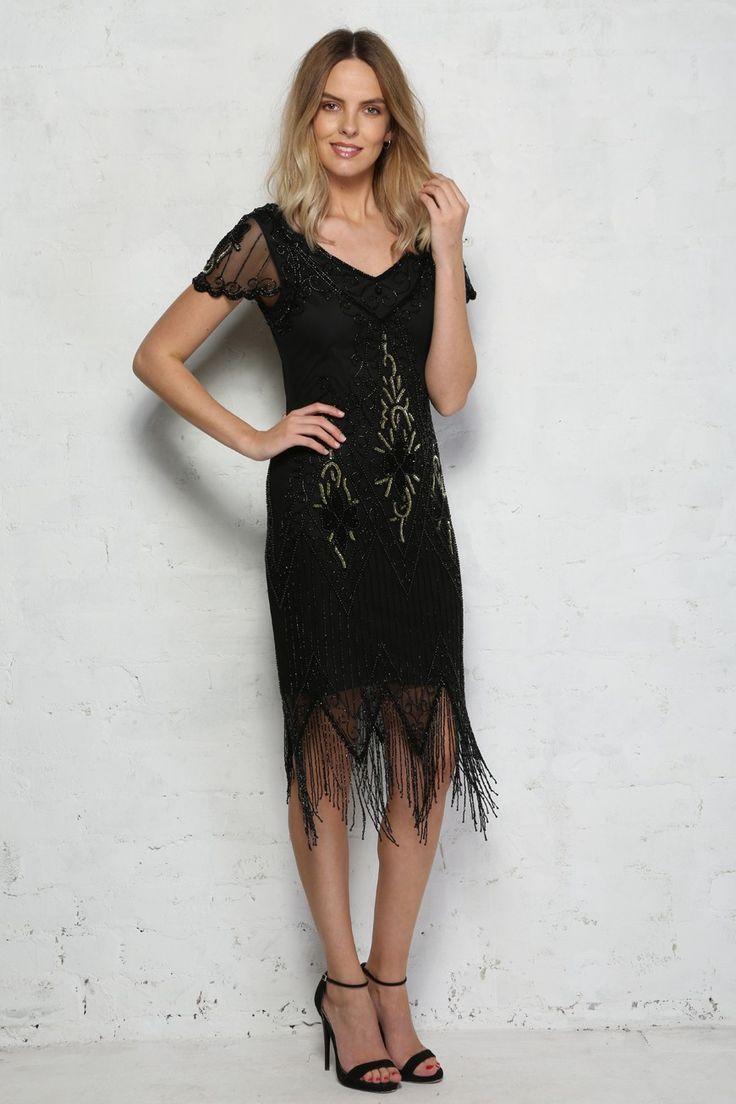 856a24f39db Short Sleeved Flapper Dress 600x900