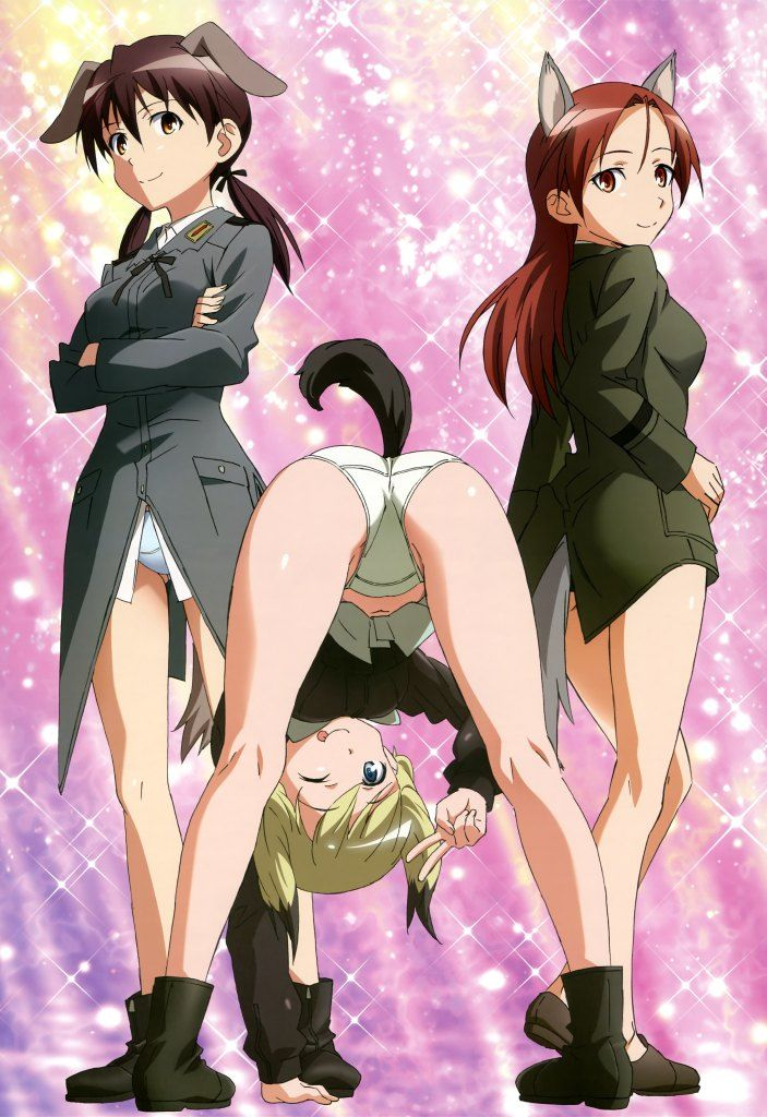 Haruhichan.com NyanType magazine August 2014 posters animal_ears ass erica_hartmann gertrud_barkhorn minna_dietlinde_wilcke pantsu strike_witches tail