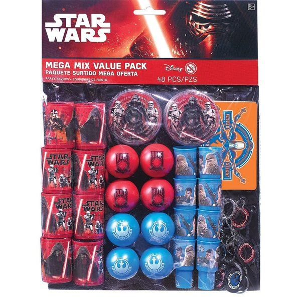Check out Star Wars Episode Vll Mega Mix Value Pack - Discount Party Favors from Wholesale Party Supplies