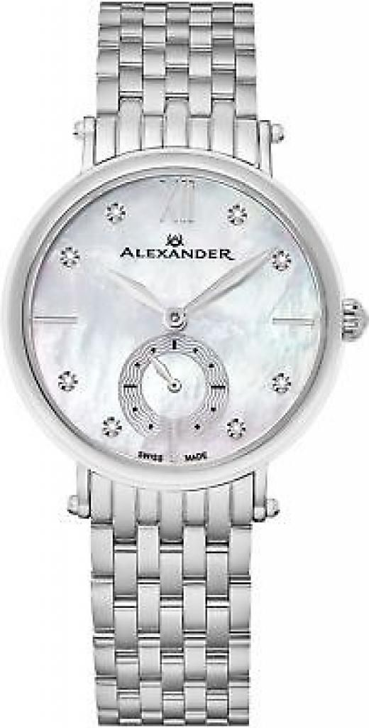 Imported Alexander Monarch Roxana White Mother Of Pearl Large Face Watch For Women - Swis Wa59704ced492b5-us Seller Warranty Watches