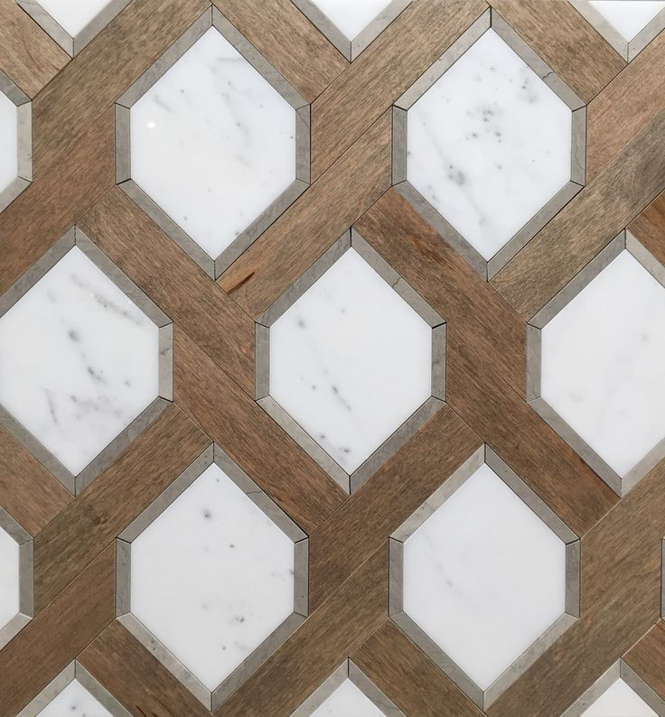 renaissance tile and baths white marble and nougat wood tile patterns one of my favorites - Bathroom Tile Floor Patterns