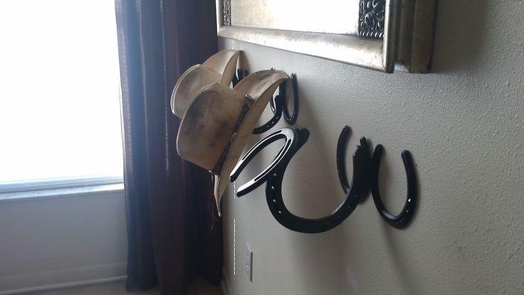 Horseshoe cowboy hat holder