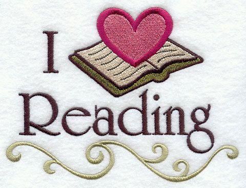 I Love Reading by StartingStitches on Etsy. $3.00 USD, via Etsy.