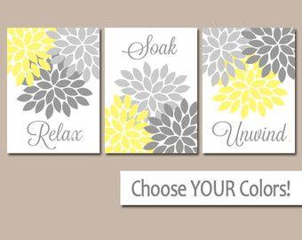 Yellow Gray Bathroom Wall Decor Bathroom Art Prints Yellow Design Inspirations