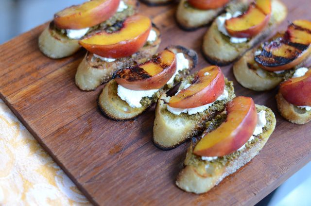 grilled peach crostini | Things I should put directly in my mouth | P ...