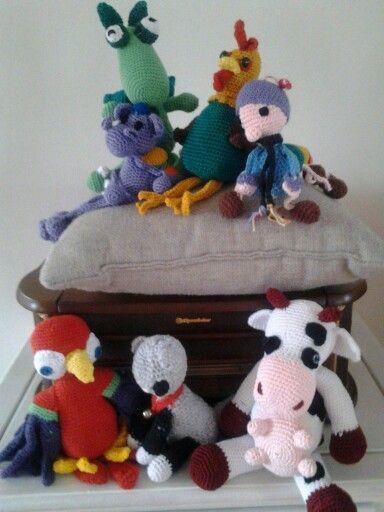 Gehaakt, papegaai,  draak, koe, rups, kip, poes