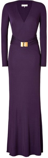 Jersey Belted Evening Gown in Purple - Emilio Pucci /// Ok it's not going to make the cut, but the colour is fabulous.