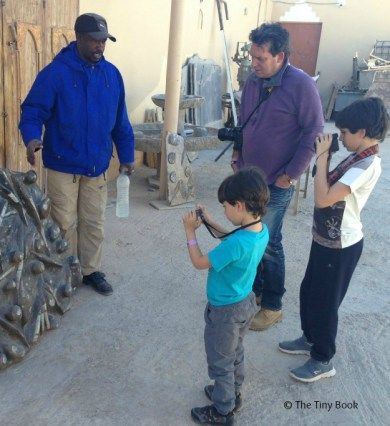 Dinosaurland, where dinos get real. The kids in Arfoud (Morocco), learning about fossils.