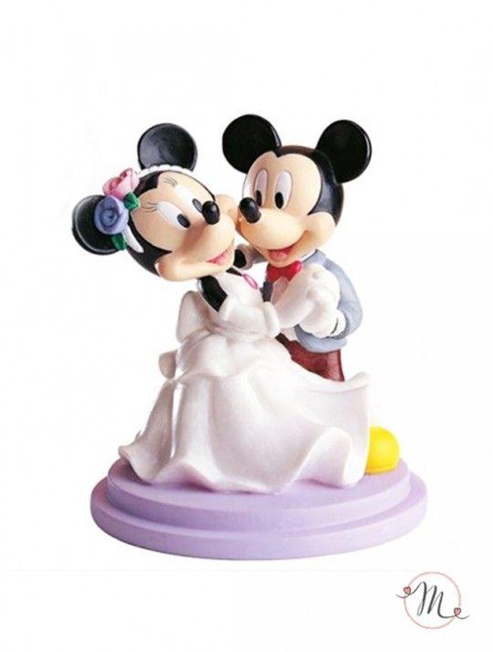 Cake topper Topolino e Minnie al primo ballo. Originale e romantico, darà un tocco in più alle tue nozze. Resina dipinta. Misure: 18 cm. #caketopper #cake #topper #wedding #matrimonio #weddingideas #ideasforwedding #figurastartanuptcial #hochzeitcaketopper #weddingday