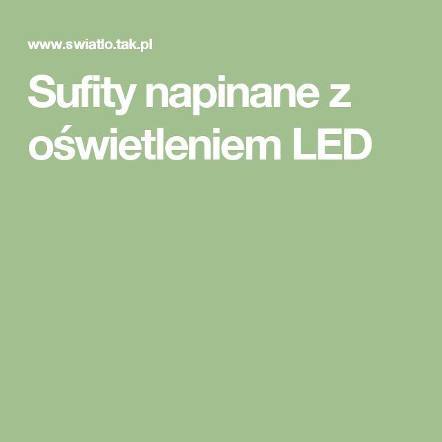 Sufity napinane z oświetleniem LED