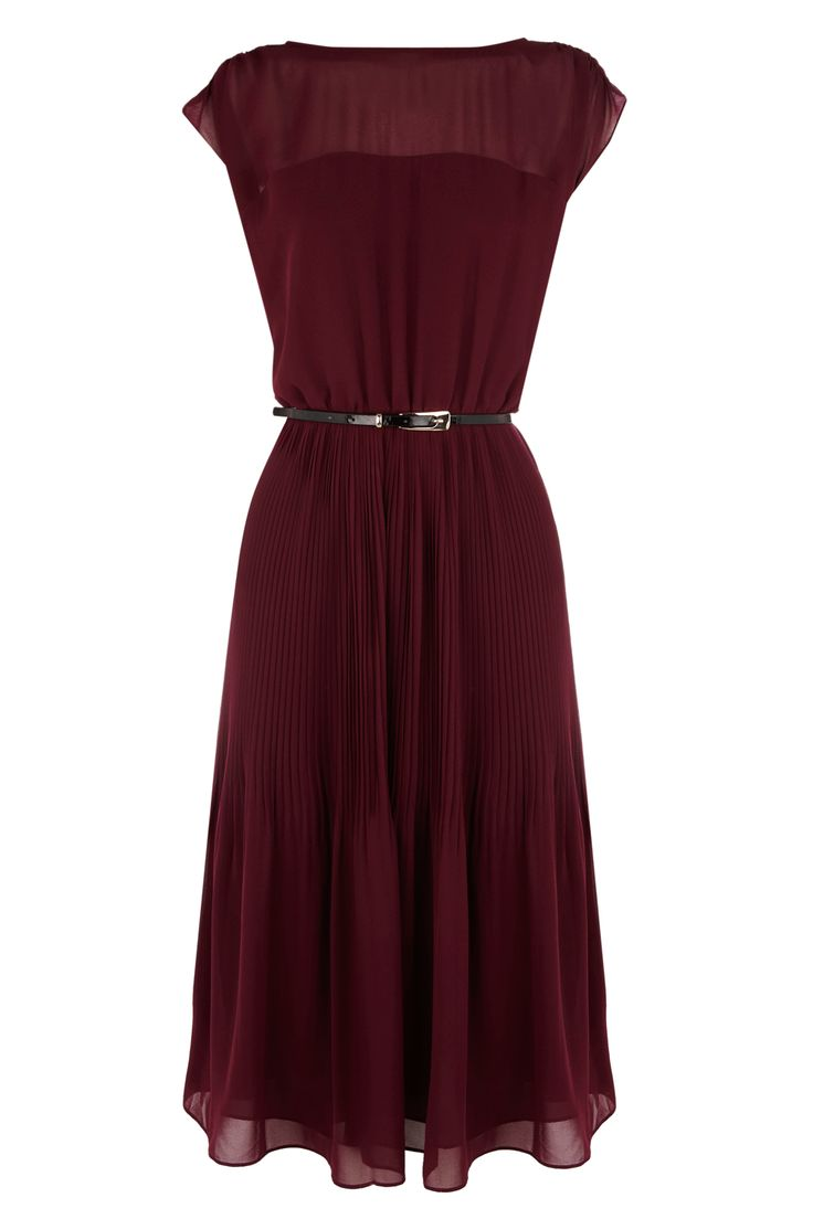 Half Pleat Midi Dress at warehouse.co.uk