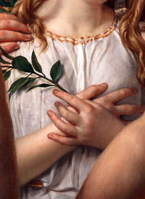 c0ssette:  Jacques-Louis David,The Anger of Achilles,detail,1819.:
