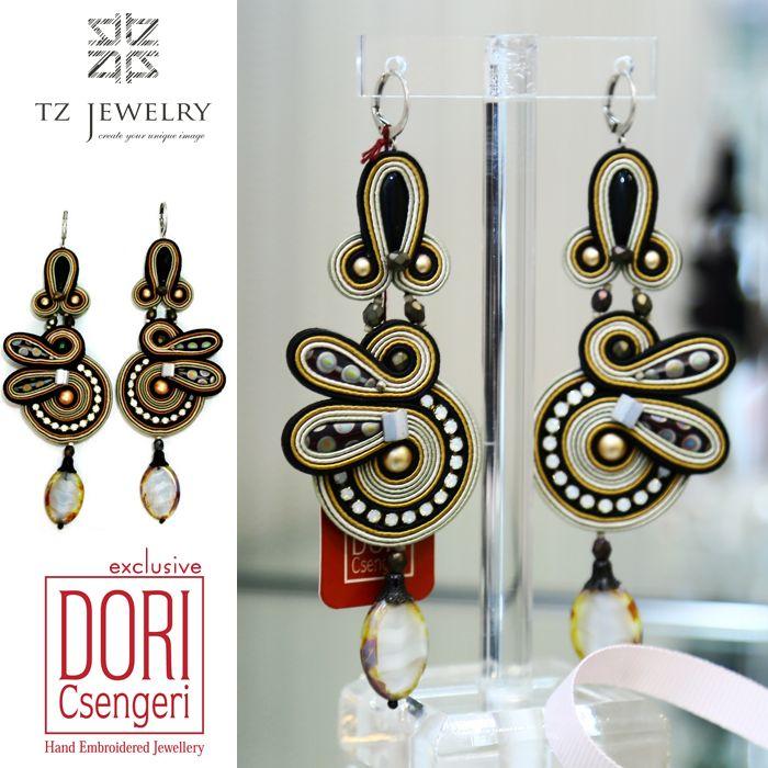 Exclusive earrings from Dori Csengeri! #DoriCsengeri #soutache #exclusive #jewelry #TZjewelry #unique #earrings