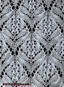 Lotus Blossom - Knittingfool Stitch Detail