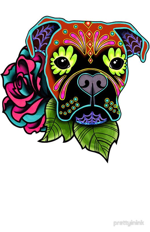 Skull Day Of The Dead Dog