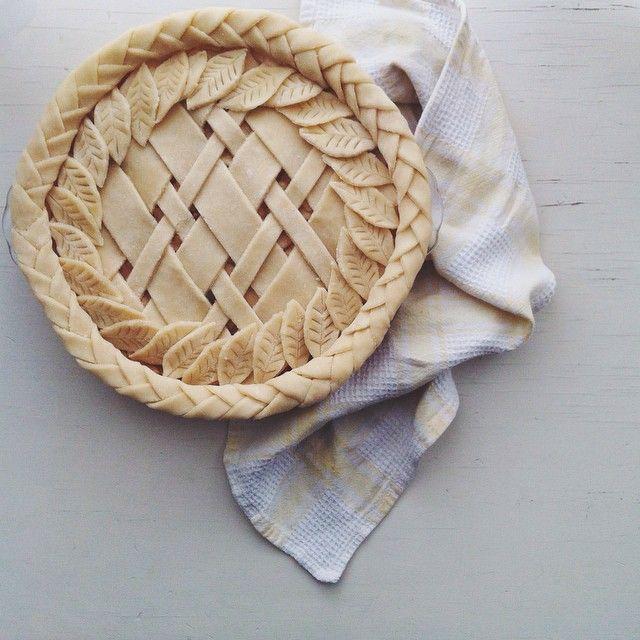 """elleventy insta: I call this the """"braided-diagonal-lattice-leaf-foliage"""" pie"""