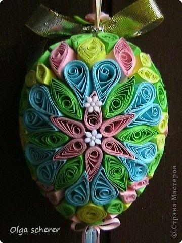 3d quilling   Поделка, изделие Квиллинг: Пасхальное яйцо Бумага Пасха. Фото 5