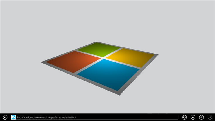 Levitation demo - Hardware accelerated HTML5 with touch is faster in IE11